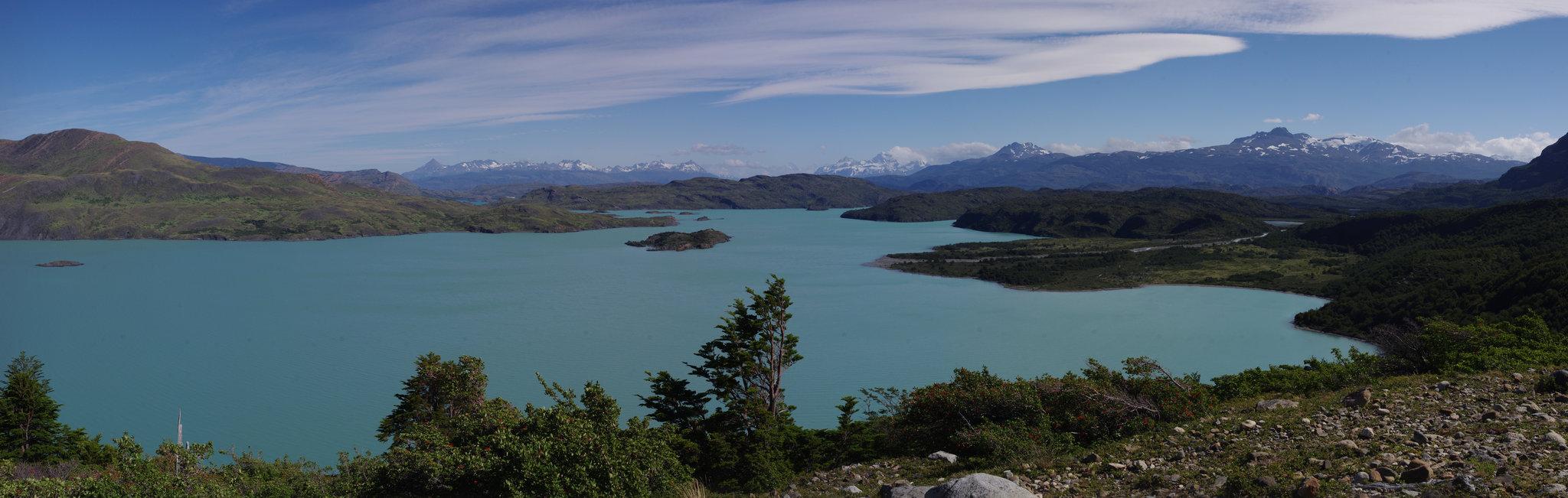Vue sur le Lago Nordenskjöld, Parc Torres Del Paine