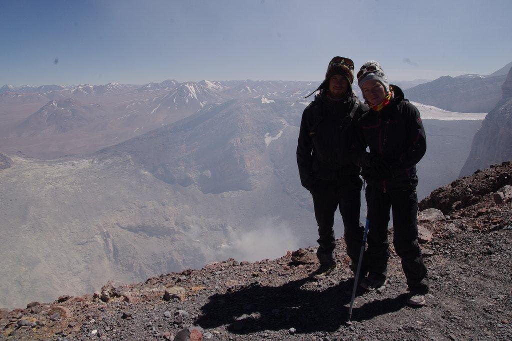 Au bord du cratère