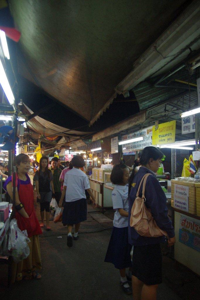dans le marché