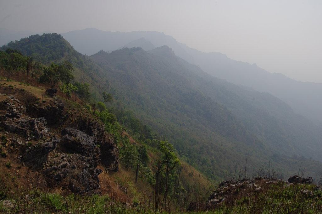 En haut du Doi Phu Chi Fa
